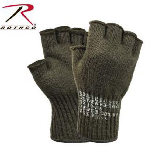 Rothco Fingerless Wool Gloves -Olive Drab-