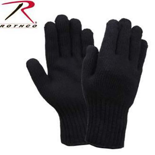 Rothco G.I. Wool Glove Liners -Black-