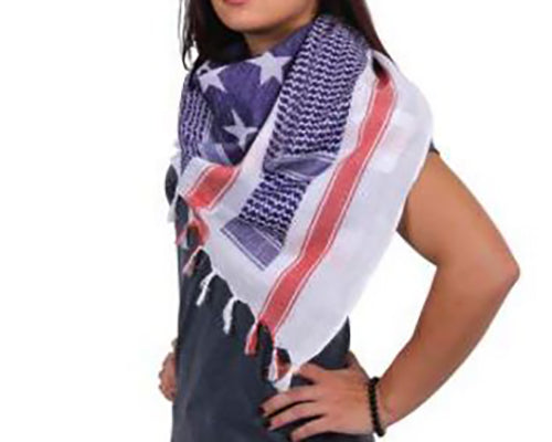 Rothco Shemagh Desert Scarf -Stars and Stripes-