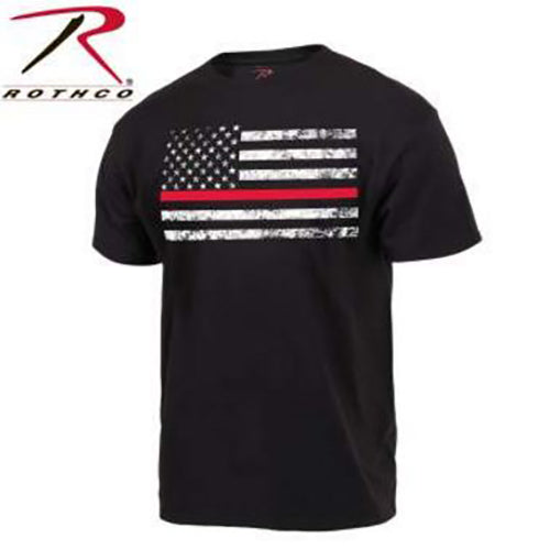 Rothco Men's Thin Red Line Flag Tee