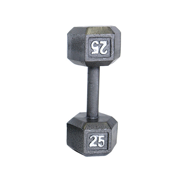 Cap Cast Iron Hex Dumbbell 25lbs -Gray-