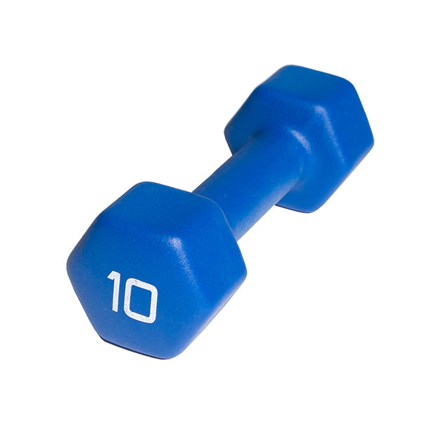 Cap Neoprene Dumbbell 10lbs -Neon Blue-