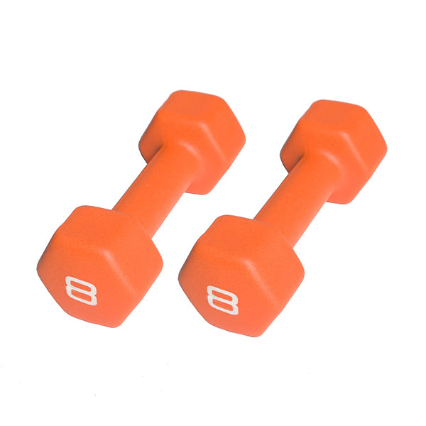 Cap Neoprene Dumbbell 8lbs -Neon Orange-