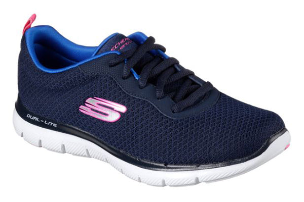 Skechers Women's Flex Appeal 2.0 Newsmaker -Navy-