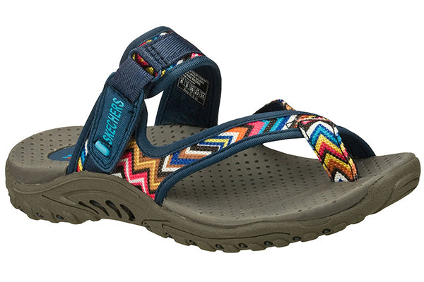 Skechers Women's Regae Zig Swag Sandal  -Navy-