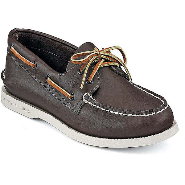 Sperry Men's Leather Boat Shoe -Brown-