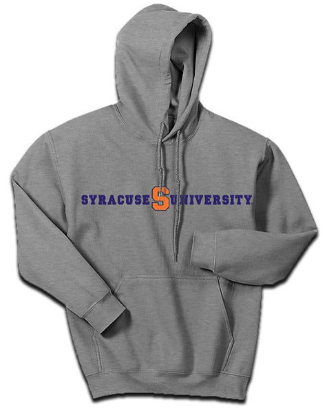 Syracuse Men`s Pullover S University Hoodie -Gray-