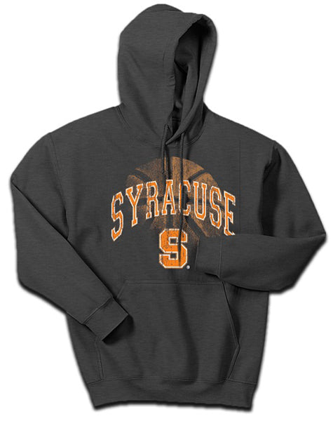 Syracuse Men`s Basketball Distressed Hoodie -Gray-