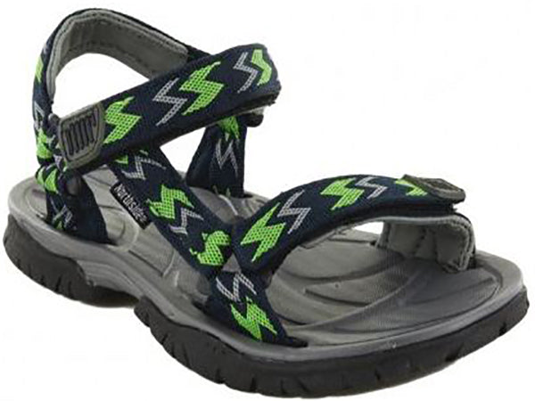Northside Boy's Seaview Sandal -Navy/Lime-