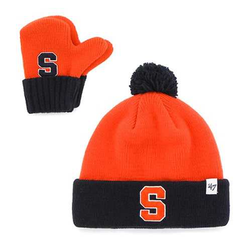 Syracuse Bam Bam Infant Knit Hat and Mitten Set