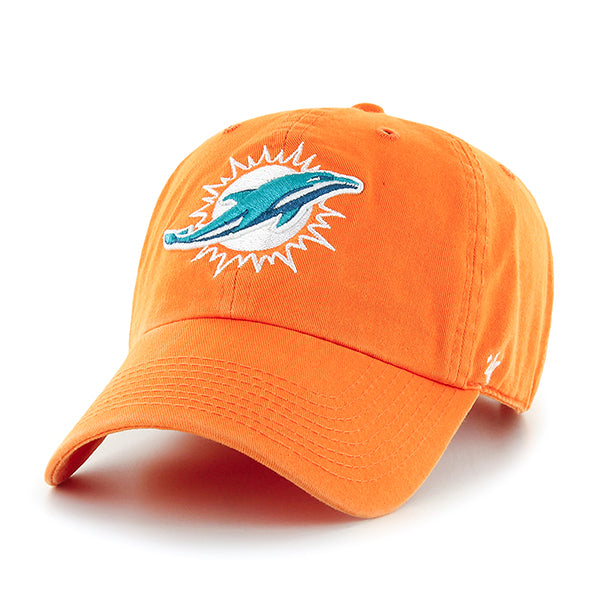 Miami Dolphins Clean Up Cap -Orange-