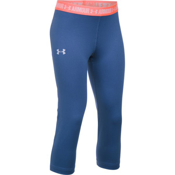 Under Armour Girl's HeatGear Armour Solid Capris -