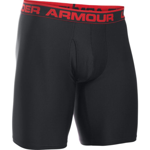 "Under Armour Men's 6"" Boxer Jock -Black/Red-"