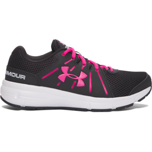 Under Armour Women's Dash RN 2 Sneakers -Black/Pin