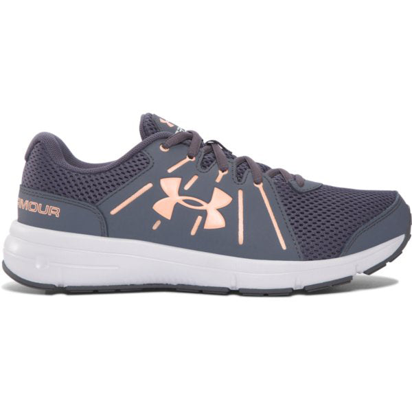 Under Armour Women's Dash RN 2 Sneakers -Gray/Pink