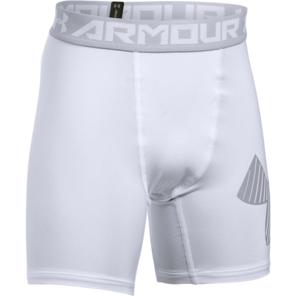 Under Armour Boy's Mid Shorts -White-
