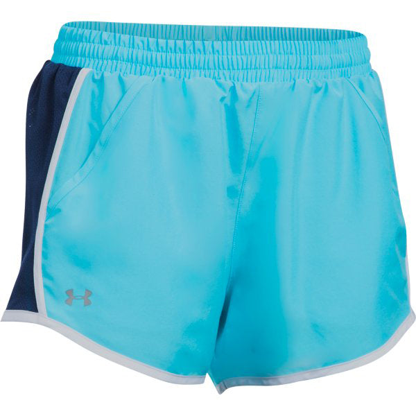 Under Armour Women's Fly-By Shorts -Island Blue-