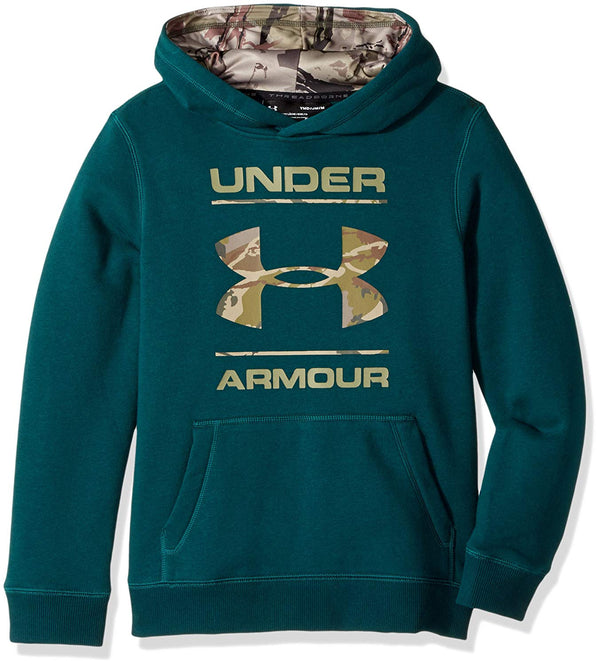 5edf7a44 Under Armour Boy's Rival Camo Logo Hoodie