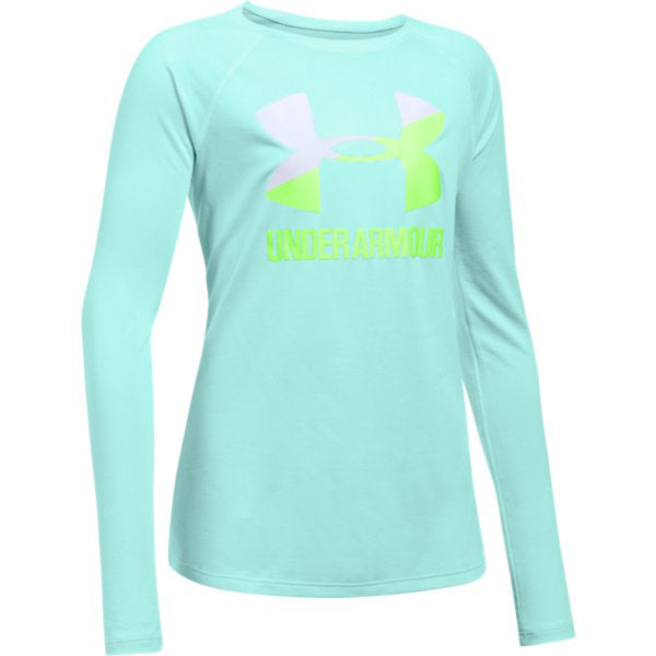 Under Armour Girl's Big Logo Slash -Infinity Blue-