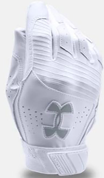 Under Armour Boys Clean Up Batting Glove -White-