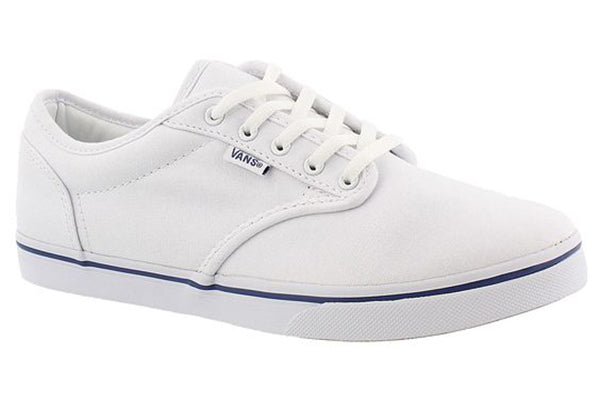 Vans Women's Atwood Low Sneaker  -White/Navy-