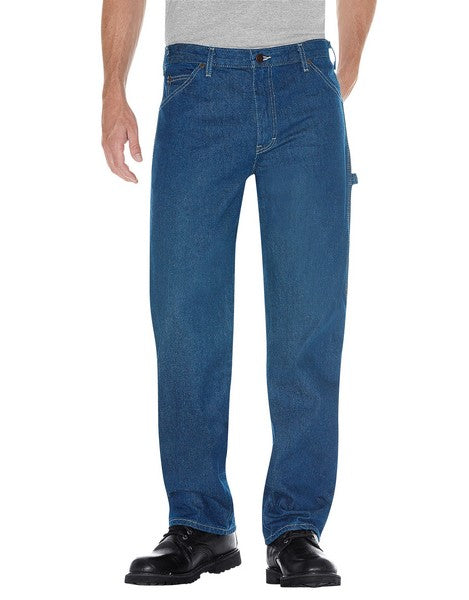 Dickies Men's Relaxed Fit Carpenter Jeans -Stonewa
