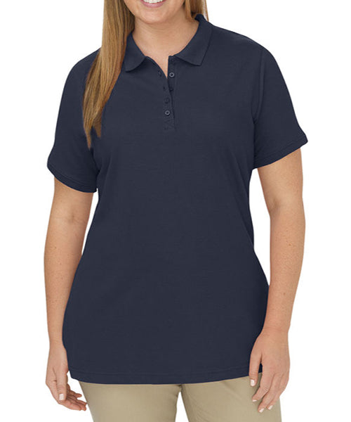 Dickies Women's Pique Polo Shirt -Navy-