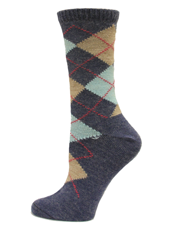 Wise Blend Women's Argyle Crew Sock