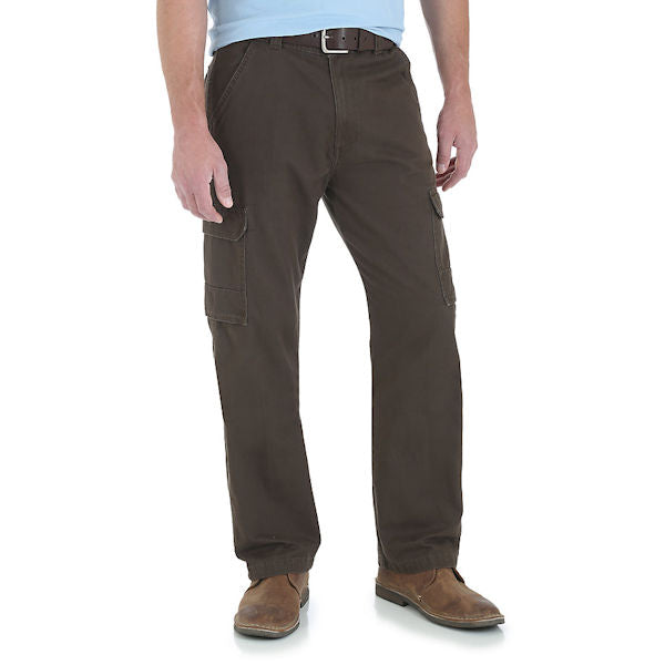 Wrangler Men's Twill Cargo Pants -Chocolate-