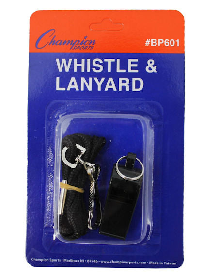 Champion Plastic Whistle With Lanyard