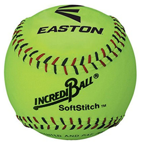 Easton Softstich Training Ball 12 Inch Neon Yellow