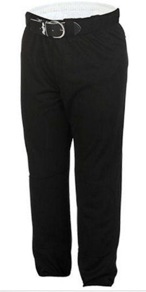 Rawlings Men's Baseball Pull Up Pant -Black-