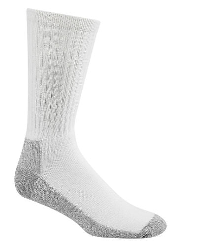 WigWam Men's Crew 3pk Work Socks -White-