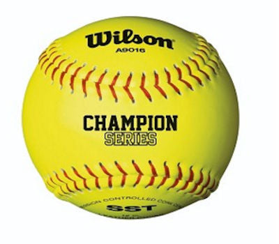 Wilson Fastpitch Softball 12 Inch NFHS Yellow