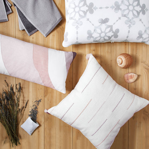 decorative pillows with lavender sachet