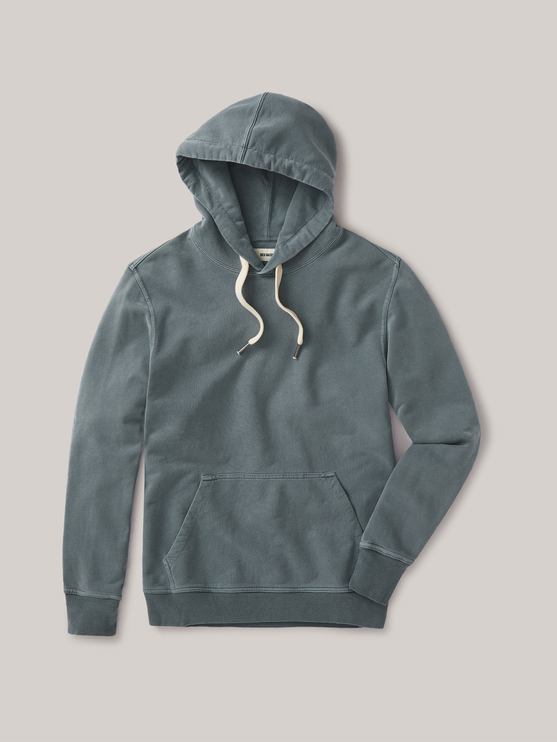 Buck Mason - Seal Venice Wash Brushed Loopback Hooded Sweatshirt