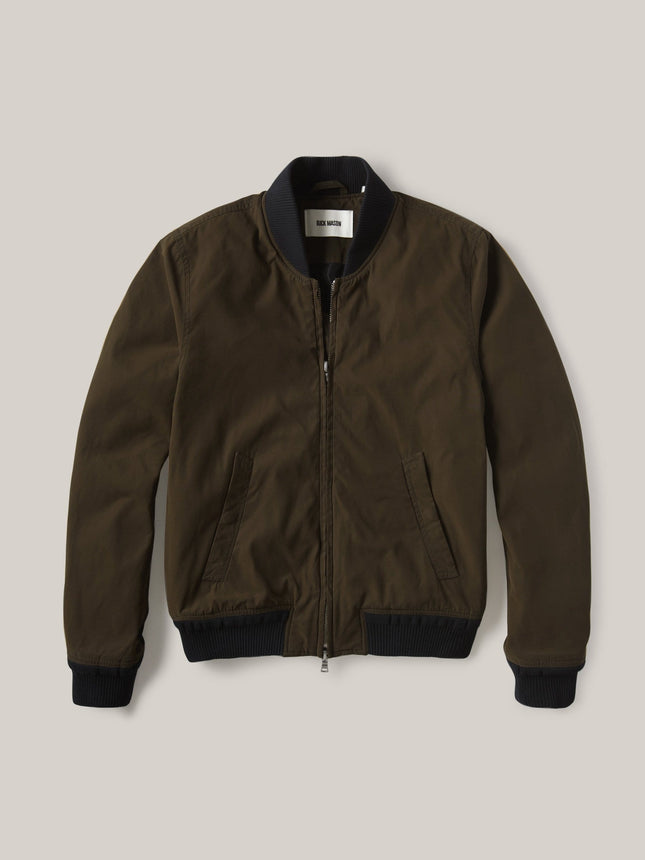 Dark Olive Oil Cloth Bomber