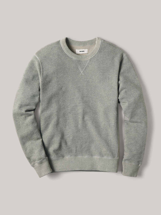 Ash Heathered Twill Terry Vintage Crew