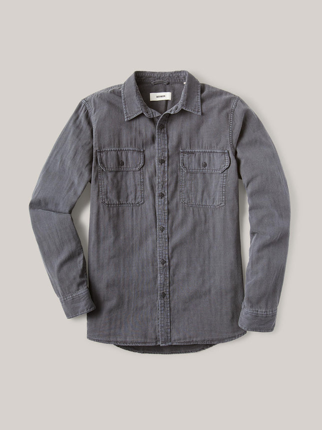 Faded Charcoal Double Weave Vintage Two Pocket Shirt
