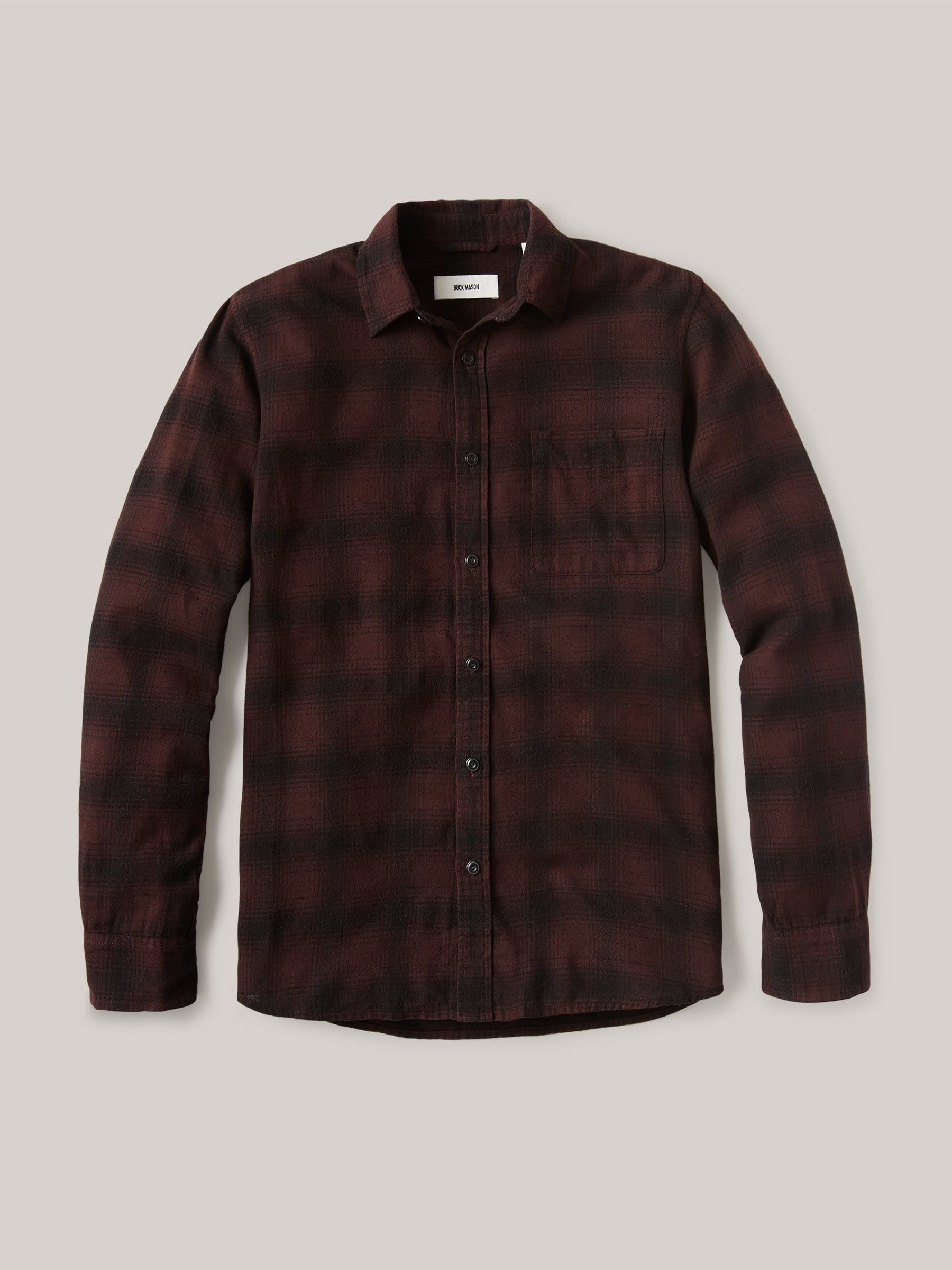 Buck Mason - Red/Black High Desert Flannel Vintage One Pocket Shirt