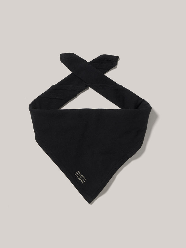 Black Slub Knit Bandana 2-Pack