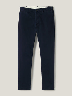 Dark Navy Slub Twill Officer Pant