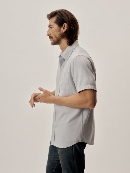 Mist Draped Twill SS One Pocket Shirt