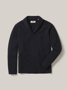 Navy Interloop Shawl Jacket