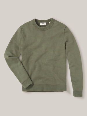 olive Vintage Dyed Cotton Traveler Sweater