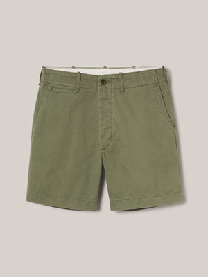 Palm Slub Twill Officer Short