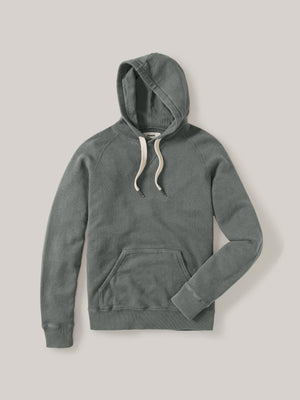 Shale Sunfade Heathered Twill Terry Vintage Hooded Raglan