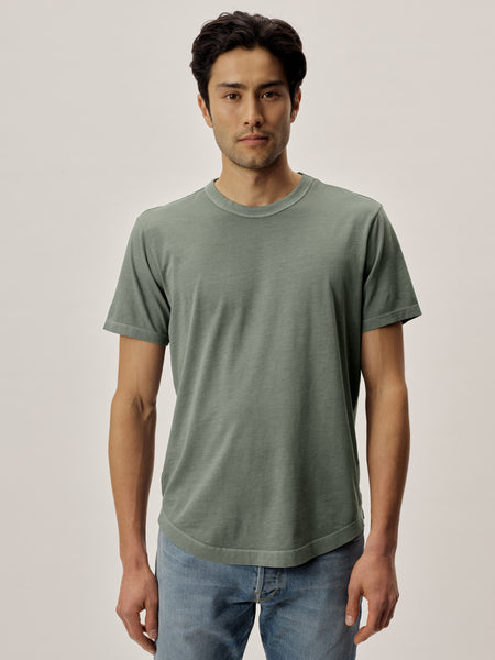 Trench Venice Wash Pima Curved Hem Tee