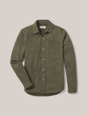 Turf Draped Twill One Pocket Shirt