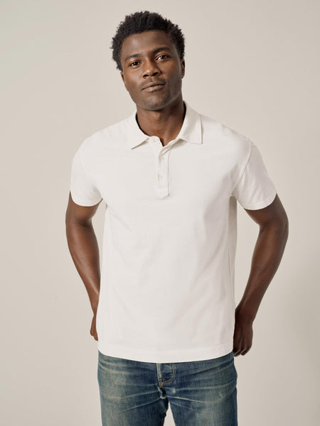 Natural Venice Wash Sueded Cotton Polo